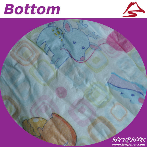 Lowest Price AAA Quality OEM Accept Colored Disposable Baby Diaper Manufacturer China