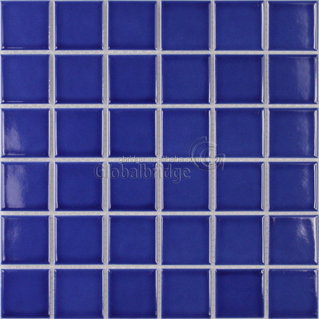Hot selling swimming pool ceramic mosaic blue glazed ceramic mosaic tile