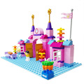 100 PCS Pink Princess Prince Castle Big Particles Building Blocks Set Best Gift for Children Girls