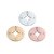 Stainless Steel Mirror Polished Trendy Gold Color Rose Gold Color DIY Jewelry Making Compass Disc Charm