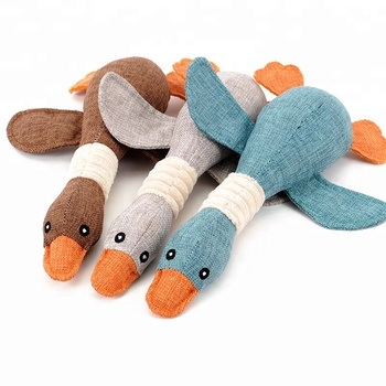 Dog Chew Toys Pet Wild Goose Stuffed Plush Puppy Squeaky Dog Toy for Small and Medium Dogs