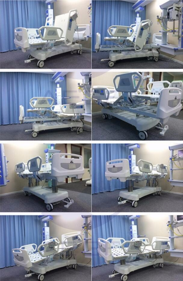 AG-BR002C nursing equipment china manufacturer cheap icu multifunction automatic invacare electric hospital bed prices
