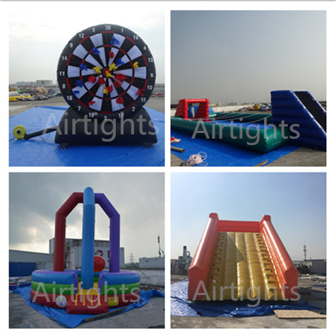Airtight Hot Sale Inflatable Sport Game Thick PVC Commercial Inflatable Water War Water Shooting Game