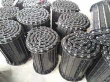 Carbon steel A3 chip converyor belt chain for cnc machine