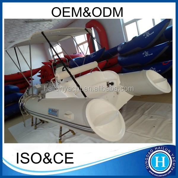 CE approved deep v boat rigid hull fiberglass inflatable console boat made in china