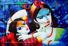 Wholesale Handmade High Quality Wall Art Decorative Canvas Radha Krishna Oil Painting