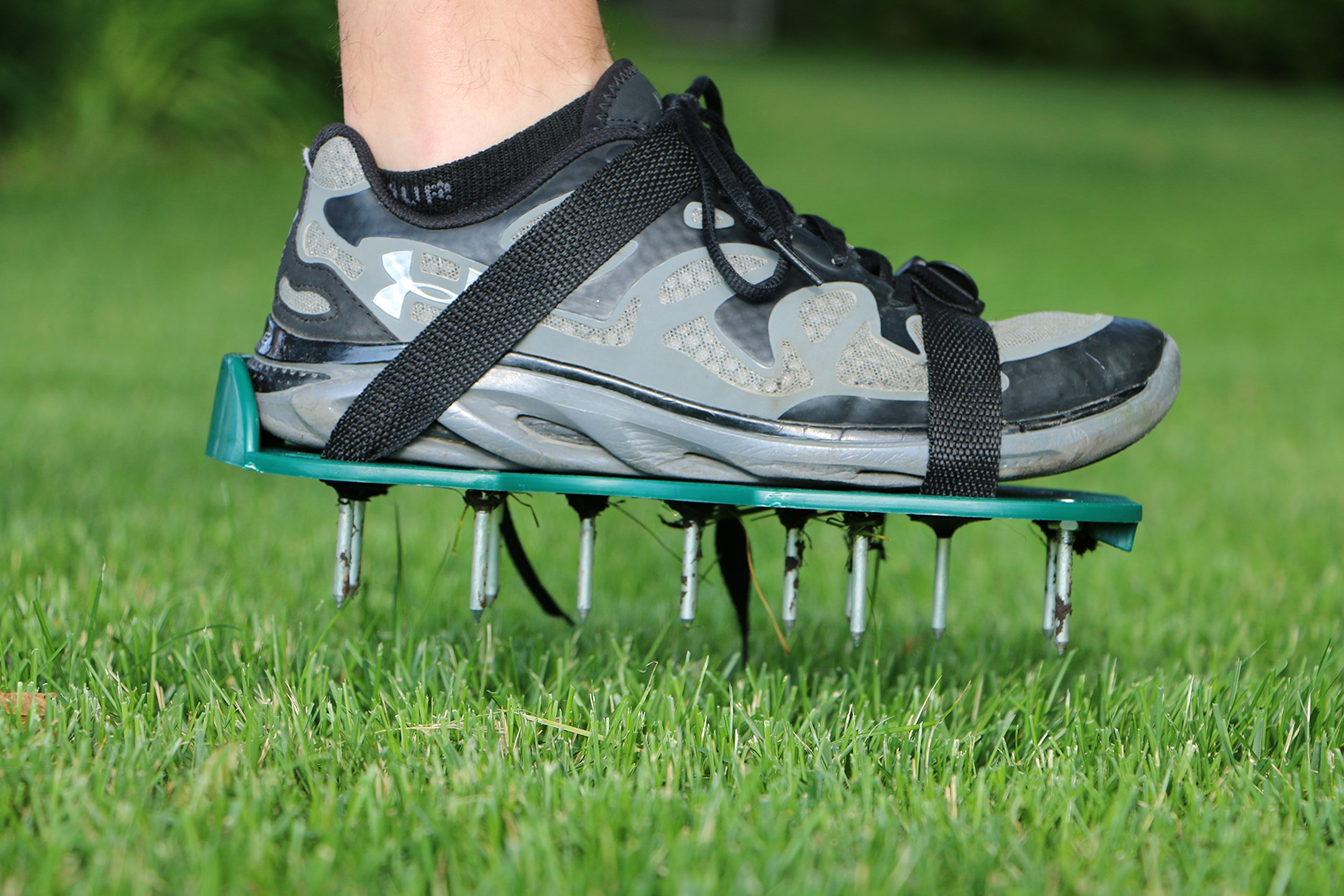 Get Quotations · Lawn Aerator: Strong Lawn Spikes/ Lawn Aerator Shoes To  Quickly Open Up The Soil