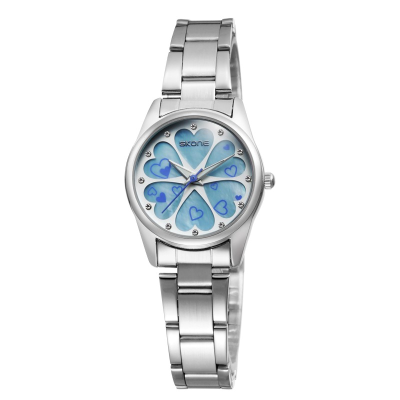 Skone Ladies Waterproof Stainless Steel Bracelet Womens Analog Watch Gift Watches for Women Female