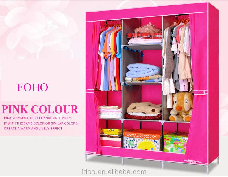 non woven fabric wardrobe design furniture wardrobe childrens bedroom furniture sets