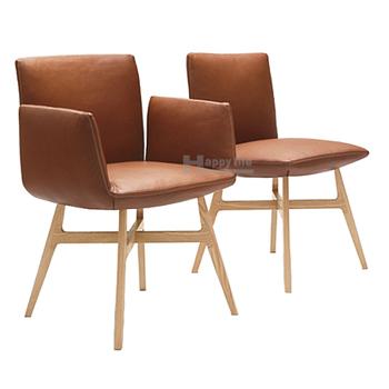 Restaurant Chair Italian Design Leather