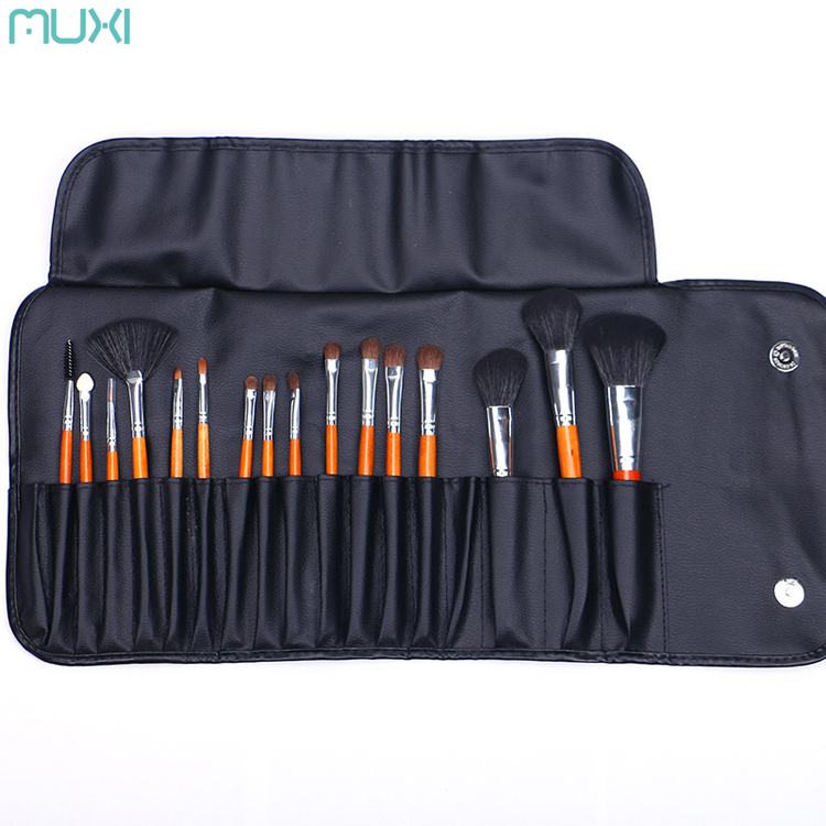 12 Piece Wolf Hair / Wool Professional Cosmetic Makeup Brushes Set & Tools