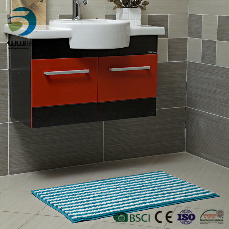 Safe and Custom Size Soft Polyester home and bath rug