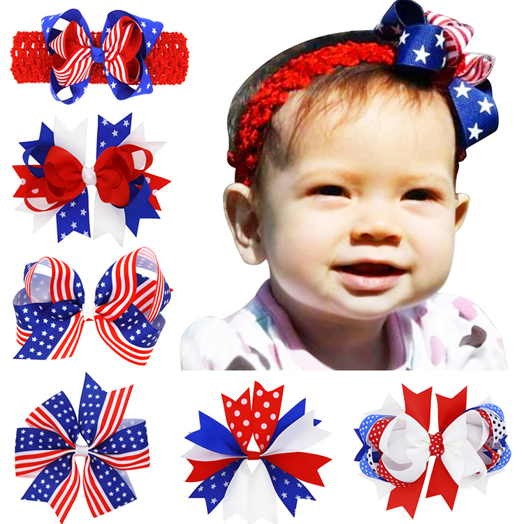 USA National Holiday baby girl hair custom headband