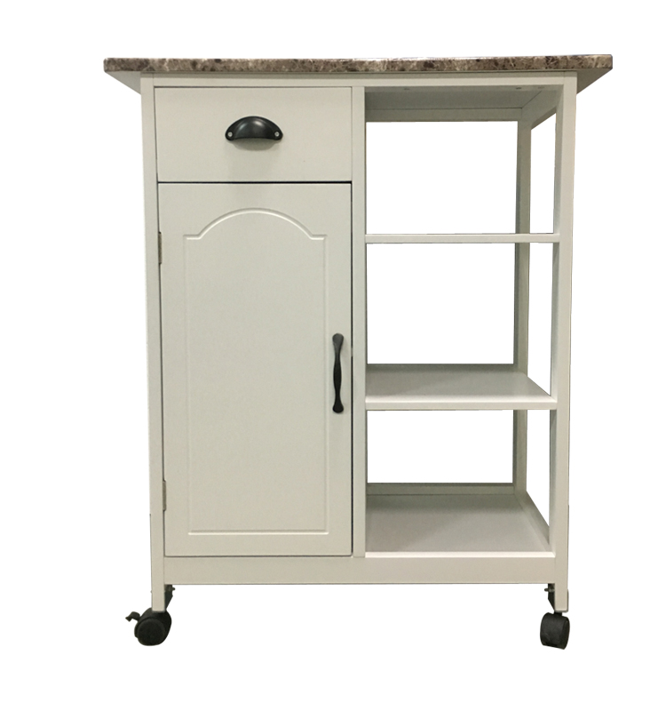 Fashion Beauty Design Good Price Kitchen Furniture Wooden Moving Kitchen Food Vegetable Cart Trolley With Wheels
