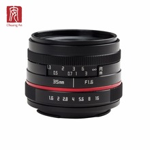 Hoge Kwaliteit 35mm F1.6 NEX MFT M4/3 E FX mount APS-C focus mirrorless digitale camera <span class=keywords><strong>lens</strong></span>