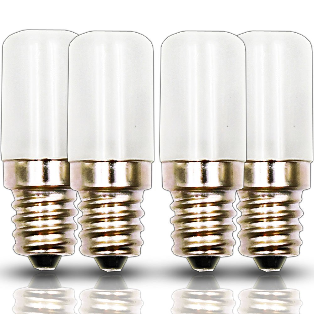 Klarlight Mini E12 Candelabra Base LED Bulb 0.5 Watt LED C7 Night Light Equivalent 10 Watt Incandescent E12 C7 Light, 120V Daylight Wall Night Light, Fridge Light Replacement ( 4-Pack )