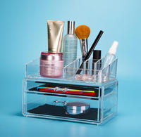 deluxe with compartments acrylic cosmetic storage