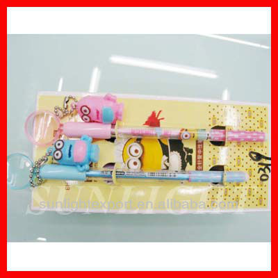 plastic flower fat ball pen with logo