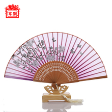 Silk Bamboo Fan Wedding Favors Japanese Sensu Folding Hand Fan GYS809-1