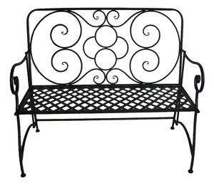Patio Park Garden Bench Path Chair Outdoor Deck Steel Frame New