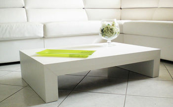 Matt White Coffee Table Italian Design