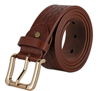 western cowhide manufacturer and high quality pu genuine leather belt for man