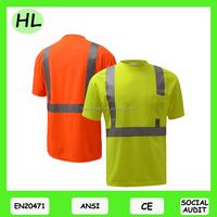 2017 China high visibility reflective eyebird mesh safety T shirt
