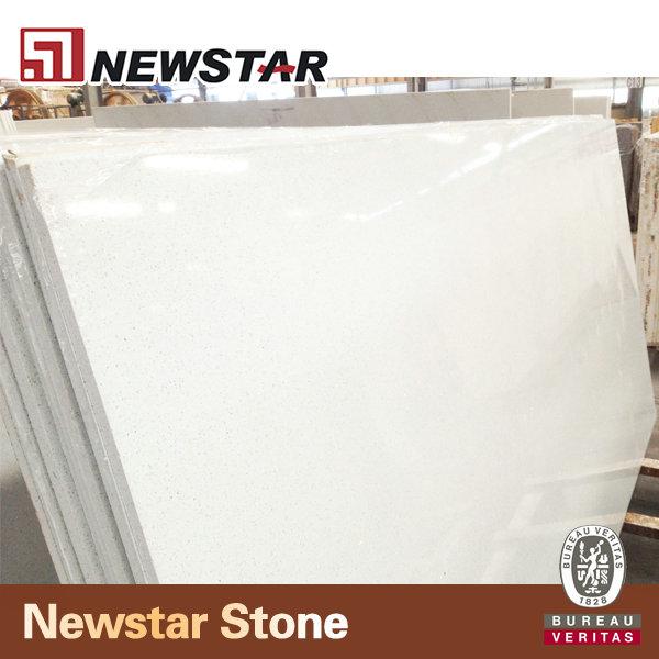 Benyee White Galaxy/sparkly White Artificial Stone Crystal Quartz ...