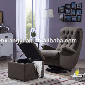 2019 Baby Relax Rocker gray microfiber sofa Chair Rocking Glider Ottoman