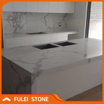 Faux Calacatta Statuario Marble Quartz Kitchen Benchtop Countertops Buy Faux Marble Countertop