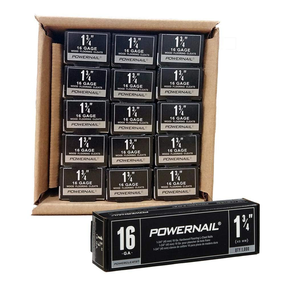 "pack of 5000 nails Powernail 18-Gauge 1-3//4/"" L-Style PowerCleats"