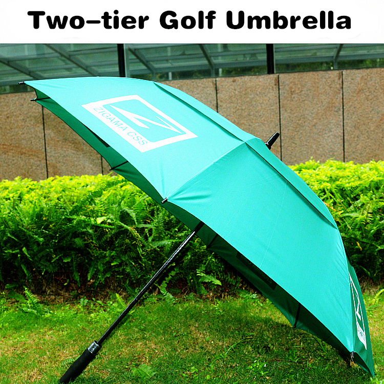 Chinese manufacturer two-tier windproof custom promotional golf umbrella