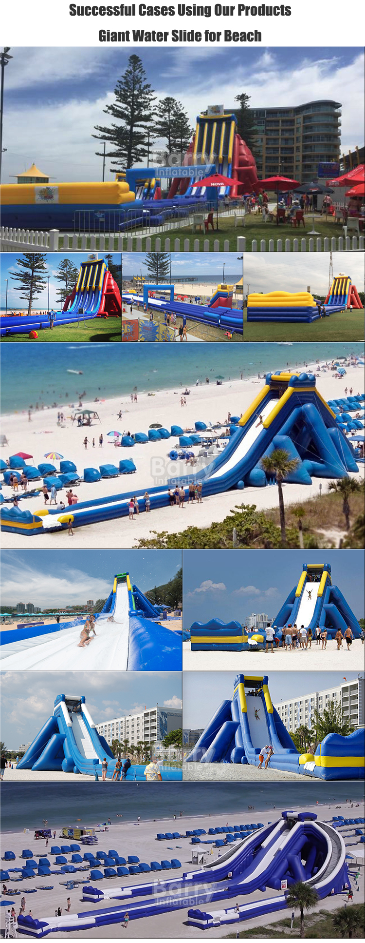 Commercial Grade triple lane giant inflatable water slide for sale, Slip n Splash for adults and kids , Factory Wholsale Price