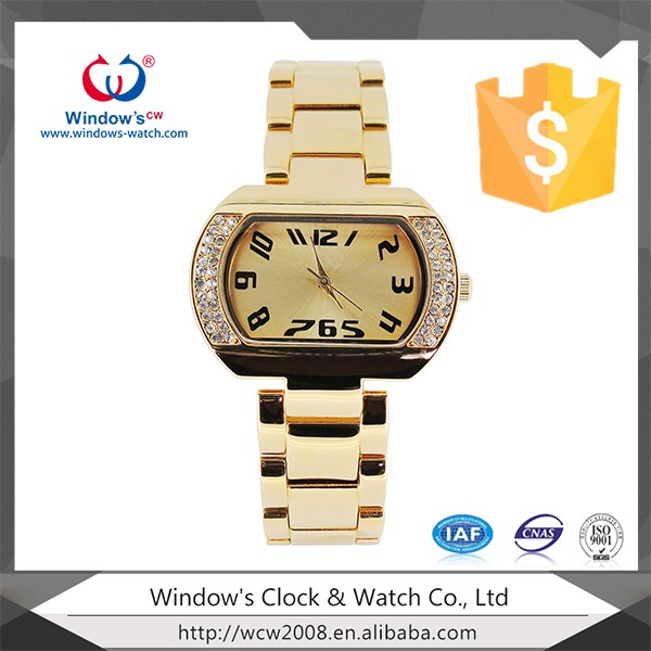 Wholesale plating brass lady watches