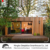 prefabricated light steel modular kits assembled wooden design house garden studio