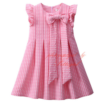Pettigirl Pink Dot Girls Dresses With Petal Sleeve Sweet Baby Girl Disty Dress Pretty Kids Clothes GD81030-241F