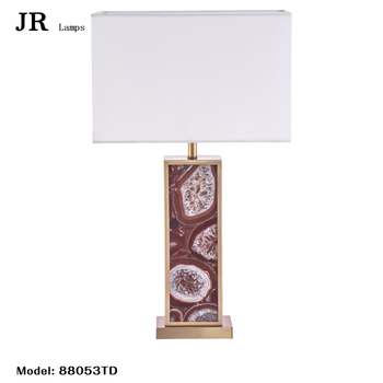 Factory Direct S High Quality Imitation Silk Lampshade Red Plate Table Lamps