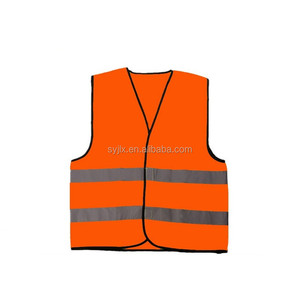 CE standard 60gsm polyester reflective safety vest with logo