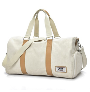 eb94a7248a43 wholesale Large capacity canvas gym bag with shoe compartment sports duffle  travel duffel bags