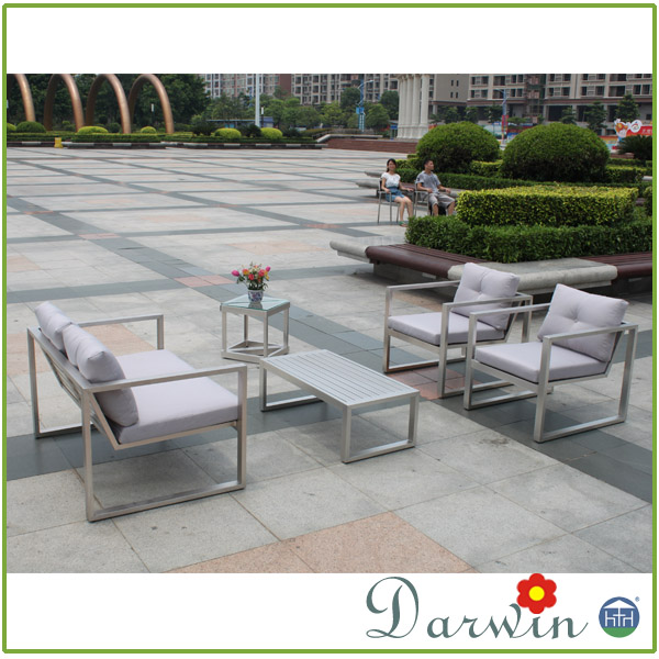 Synthetic Rattan Aluminum frame Furniture Outdoor Sofa Stainless Steel Dining Table And Chair Sets