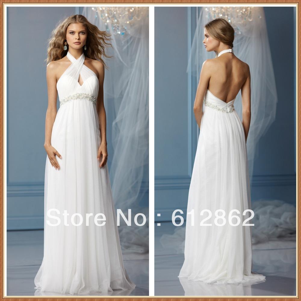Halter Neck Beach Wedding Dresses Raveitsafe