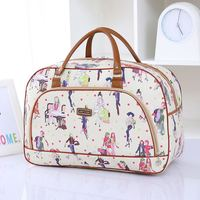 Hot selling promotional waterproof fashional women PU leather ladies travel bag