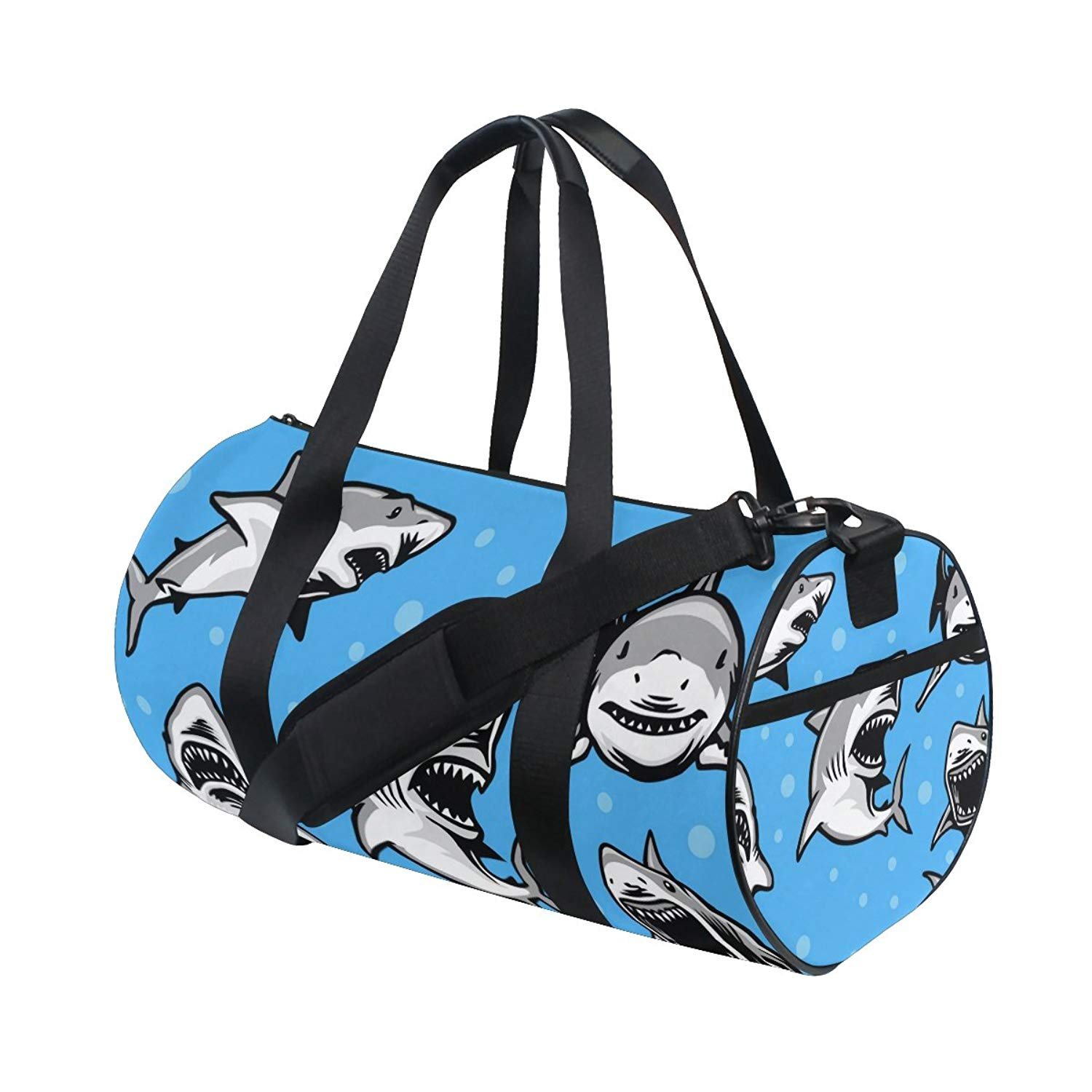 fd7e8c7ff271 Get Quotations · ALIREA Great White Shark Duffle bag Shoulder Handy Sports Gym  Bags for Men and Women