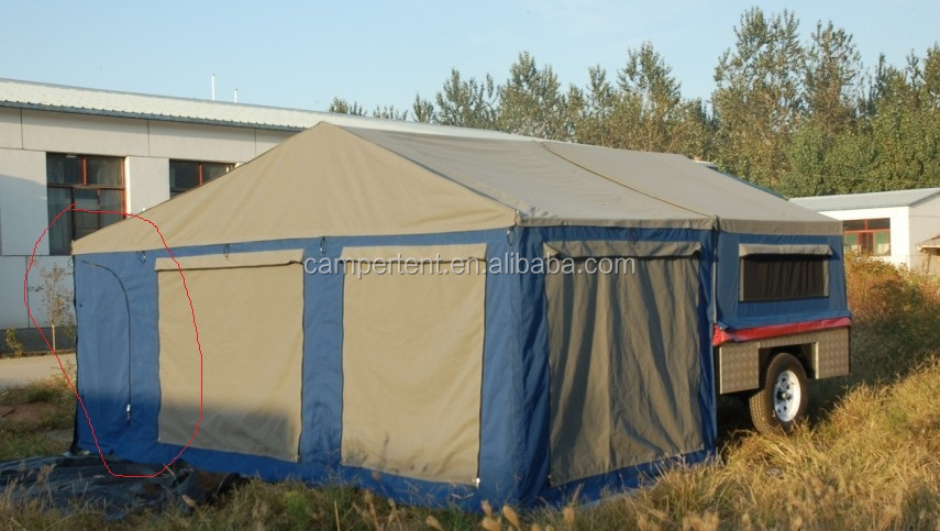 popular style straight wall 12 ft camping trailer tent
