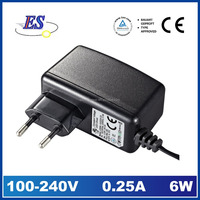 6W 12V 0.5A ac dc constant voltage wall mount plug-in power adapter,6W led driver