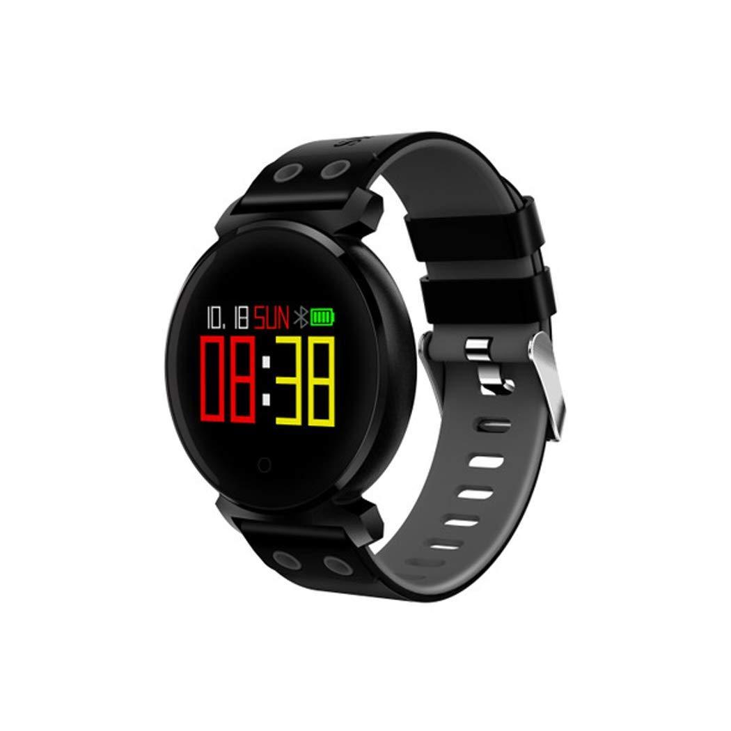 YWY Smart Bracelet Watch K2 Color Screen Smart Bracelet Sports Bracelet Sleep Heart Rate Blood Oxygen Blood Pressure Monitoring IP68 Waterproof Sport Watch (Color : Black)