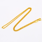 xuping fashion costume jewellery copper dubai gold plated women thin chains necklaces