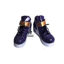 Обувь для косплея ROLECOS Game LOL K/DA Akali, обувь для косплея LOL KDA Akali, женские ботинки для косплея Akali, фиолетовая обувь(Китай)