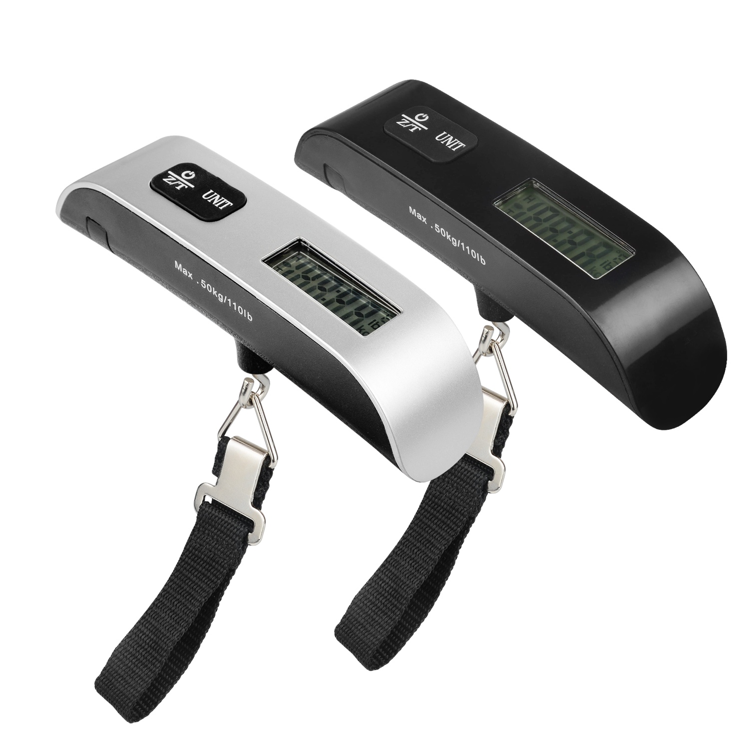 110 Lbs Luggage Scale with Temperature Sensor and Tare Function Gift For Traveler, Silver