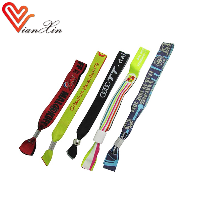 customized festival fabric colorful woven wristband for events in Zhongshan